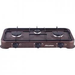 Газовая плита КС-103 Аксинья, трехконфорочная (коричневый)