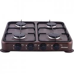 Газовая плита КС-104 Аксинья, четырехконфорочная (коричневый)