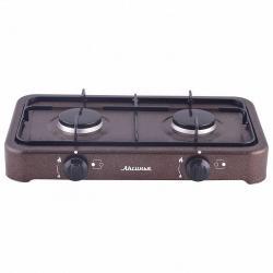 Газовая плита Аксинья двухконфорочная, цвет коричневый, артикул КС-106