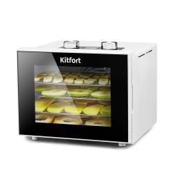 Сушилка для овощей и фруктов Kitfort KT-1915-1, белая, 340 Вт