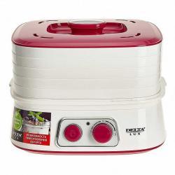 Сушилка для овощей и фруктов Delta Lux, 250 Вт, 6 л, 5 секций + йогуртница, арт. DE-2500